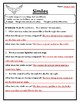 Examining Similes Worksheet Similes Practice The Meaning of Similes Activity #3