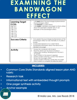 Research Task: Examining the Bandwagon Effect