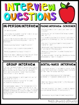 Example Interview Questions - FREE