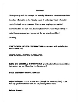 Example letter to leave for substitute teachers by michelle greene example letter to leave for substitute teachers thecheapjerseys