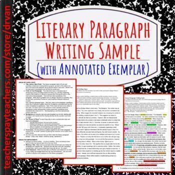 Example How to Write a Literary Paragraph (using Budge Wil