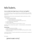 Example Student Letter - Online Teaching