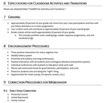 Example Syllabus (9-12)