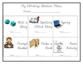Example Writing Station Choice Menu