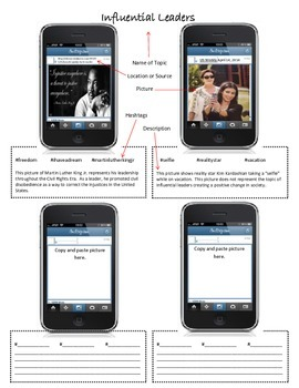 Instagram Example and Non-Example Activity
