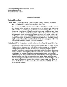 Example of Annotated Bibliography
