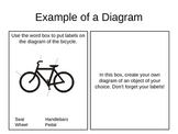 Example of a Diagram activity (Non-fiction text features)