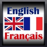 Example of a French/English word for Word Wall lesson