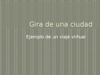 Example presentation for En la ciudad: Webquest product