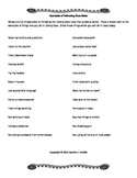 Examples of Following Class Rules Worksheet
