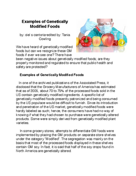 Examples of Genetically Modified Foods