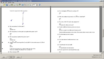 Examview Question Bank for Geometry: Points, Lines, Angles (Jurgensen Chapter 1)
