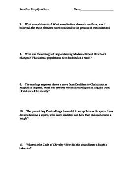 Excalibur (film) Study Guide