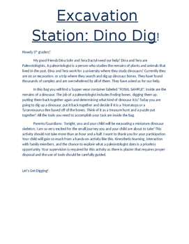 Excavation Station! Dinosaur Dig!
