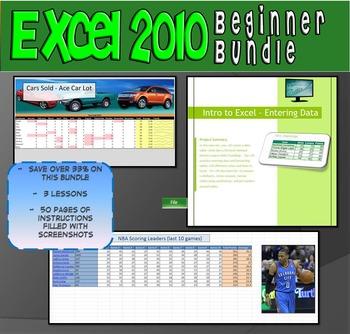 Excel 2010 Beginner Lesson Bundle