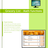 Excel 2010 Tutorial - Creating a Grocery List using AutoSum function, formulas