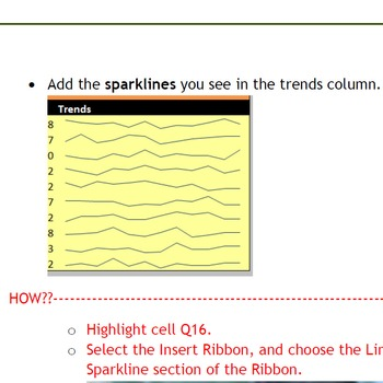 Excel 2010 Tutorial - Using Sparklines to graph data trends