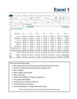 Excel 2013 1