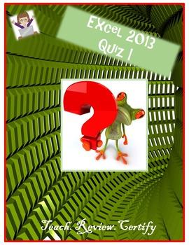 Excel 2013 Quiz I