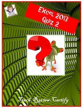 Excel 2013 Quiz II