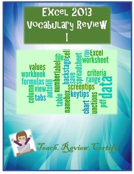 Excel 2013 Vocabulary Review I