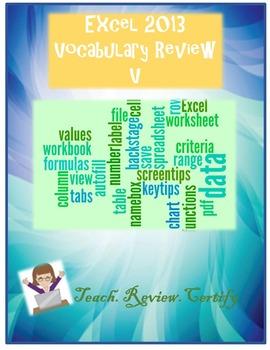 Excel 2013 Vocabulary Review V