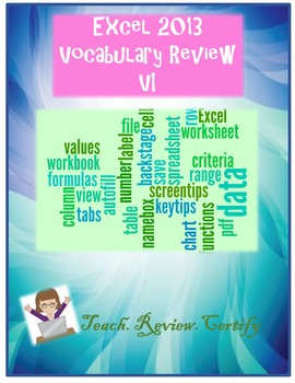 Excel 2013 Vocabulary Review VI