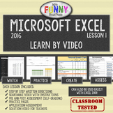 Excel 2016 Video Tutorial Lesson 1