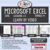 Excel 2016 Video Tutorial Lessons - BUNDLE #1 (Lessons 1-5)