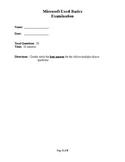 Microsoft Excel Basics Examination/Test