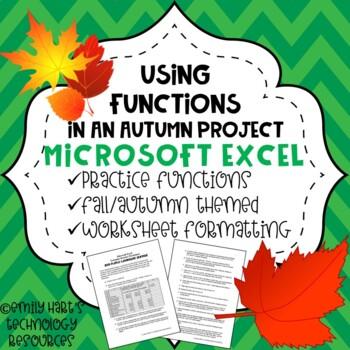 Microsoft Excel Basic Formulas Practice Project -  Add, Su