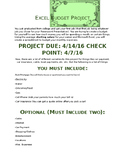 Excel Budget Project