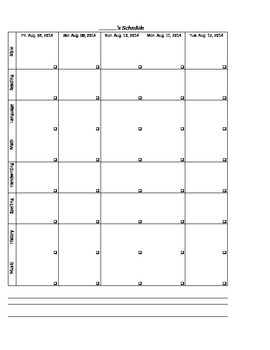 Excel Customizable Planner - for teacher or homeschool student or parent