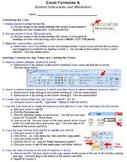 Excel Formulas A Technology Lesson Plan & Materials