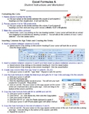 Excel Formulas A Technology Lesson Plan & Materials