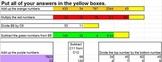 Excel Formulas Lesson Plan - Sum formula, Subtraction, Div