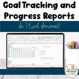 Special Education Goal Tracking and Progress Reports in Excel