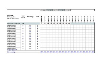 Excel Grade book and Progress Reports