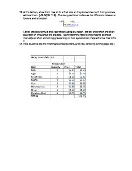 Excel Lesson Plan