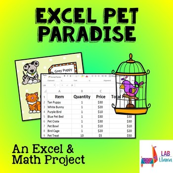 Excel Pet Paradise - Excel and Math Skills