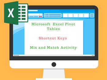 Excel Pivot Table Shortcut Keys Mix n Match Worksheet