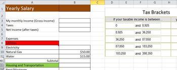 Excel Practice - Budget Calculator