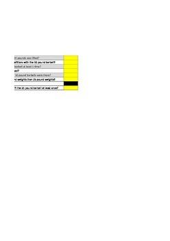 Excel Practice Test
