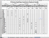 Excel Primary Spelling Inventory (QSI) FEATURE GUIDE Words