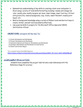 """Excel Project - Creating a 16"""" X 22"""" Book Cover Poster"""