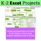 Excel Projects for Grades K-2: 5 Types of Graphs