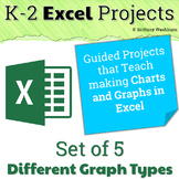 Excel Projects for Grades K-2: 5 Types of Graphs Bundle
