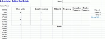 Excel Projects for Statistics Frequency Distributions and Charts
