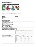 Excel Sports Stats Project Microsoft Office Common Core Standards
