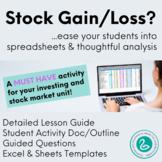 Excel Spreadsheet for Analyzing a Stock Portfolio